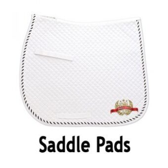 AWC Saddle Pad White